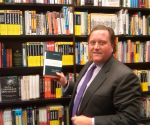 David Braun with his new book, Successful Acquisitions, at Barnes & Noble