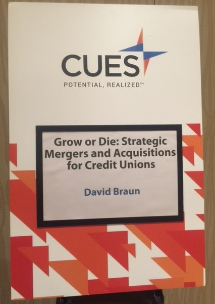 CUES David Braun Strategic Mergers and Acquisitions 2015