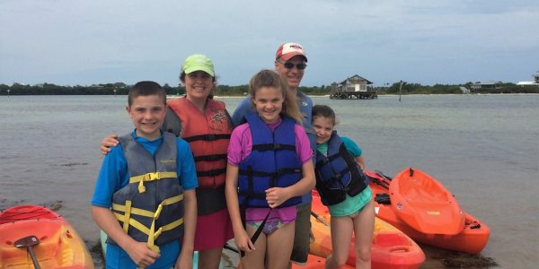 John Dearing with his family in North Captiva, FL