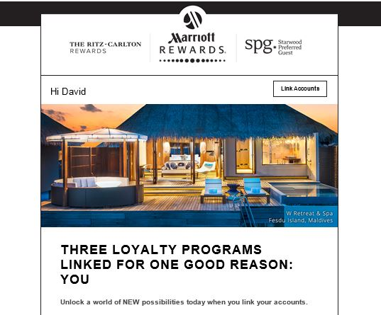 Marriott Rewards Email