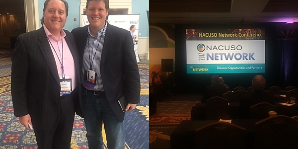 David Braun, CEO of Capstone and Kirk Drake, CEO of Ongoing Operations at the NACUSO 2017 Network Conference.