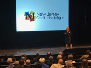 The Lieutenant Governor of New Jersey, Kim Guadagno, speaks at the NJCUL convention.