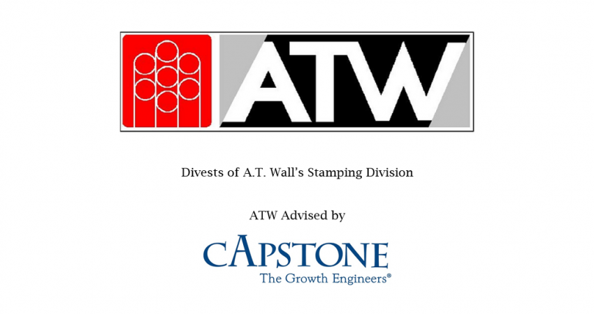 Capstone announced today that ATW Companies (ATW) of Warwick, Rhode Island has sold its Stamping Division.