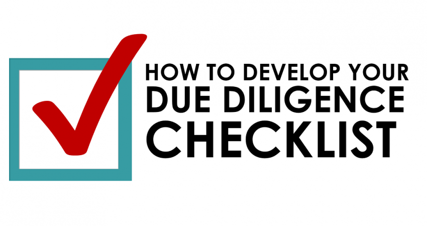 How to develop your due diligence checklist